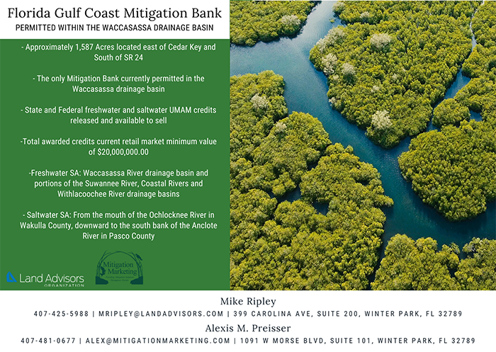 FLORIDA GULF COAST MITIGATION BANK